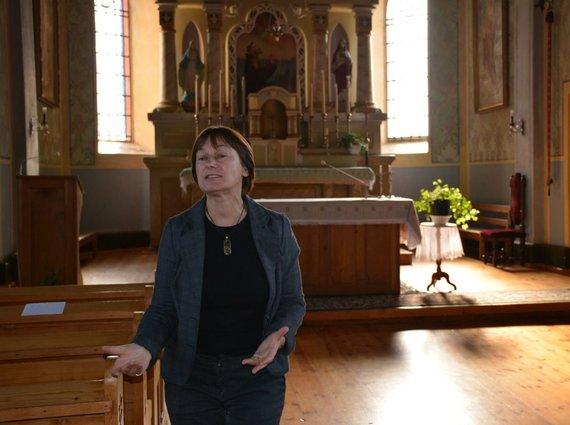 R.Averkienės nuotr./Marija Lūžytė į bažnyčią dažnai veda ekskursijas
