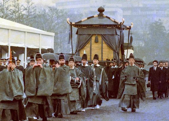 """Reuters""/""Scanpix"" nuotr./Japonijos imperatorius Hirohito laidotuvės 1989 m."