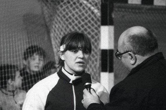 Alfredo Pliadžio nuotr./1986 01 19 Virgilijus Mundrys ir Aušra Miklušytė-Fridrikas