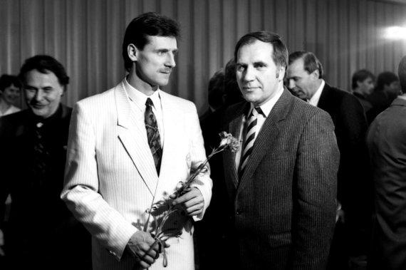 Alfredo Pliadžio nuotr./V.Chomičius ir pirmasis jo treneris Vladas Janiūnas