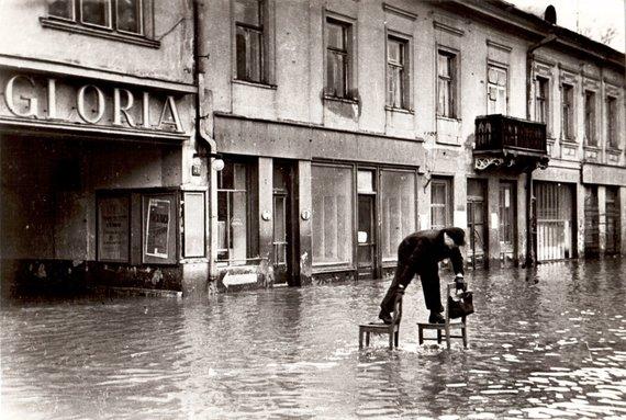 simtmeciospalvos.lt nuotr./Kauną skandina potvynis 1931 m.