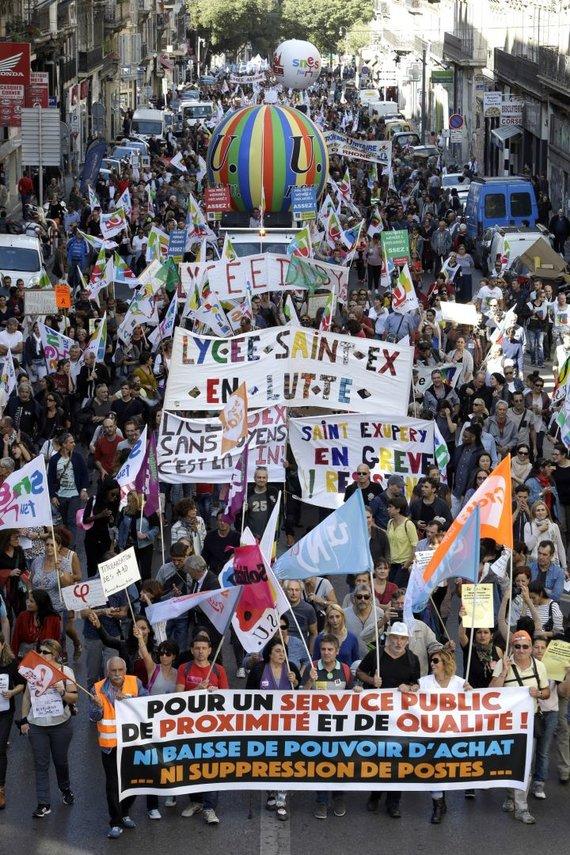 """Scanpix""/AP nuotr./Protestas Prancūzijoje"