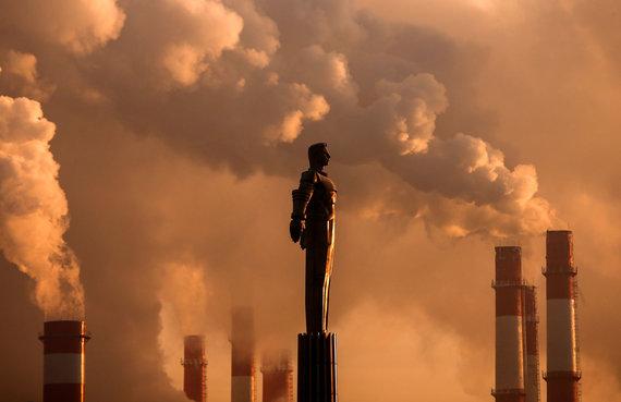 """Reuters""/""Scanpix"" nuotr./Jurijaus Gagarino statula Maskvoje"