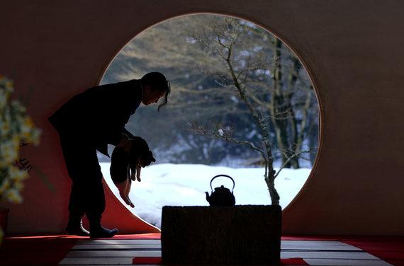 """""""Scanpix""""/AP nuotr./Japonijos sostinę užklojo sniegas"""