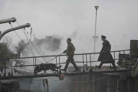"""Luko Juzėno nuotr./""""Pelėdų kalno"""" filmavimo akimirkos"""