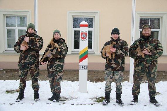 VSAT nuotr./Pasieniečių tarnybinių šunų būrį papildė keturi jauni belgų aviganiai