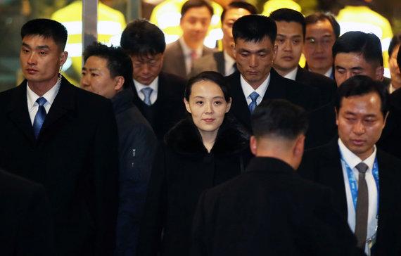"""Reuters""/""Scanpix"" nuotr./Kim Yo-jong Pietų Korėjoje"