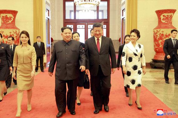 """""""Reuters""""/""""Scanpix"""" nuotr./Pekine susitiko Kinijos ir Šiaurės Korėjos vadovai"""