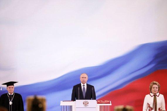"""AFP/""""Scanpix"""" nuotr./Prezidento Putino inauguracijos 4-ai kadencijai ceremonija"""