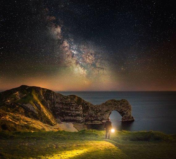 Vida Press nuotr./Paukščių takas virš Dorseto peizažo