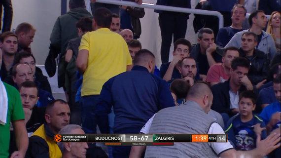 "Euroleague.tv stopkadras/""Budučnost"" fanai skirstėsi rungtynėms dar nesibaigus"