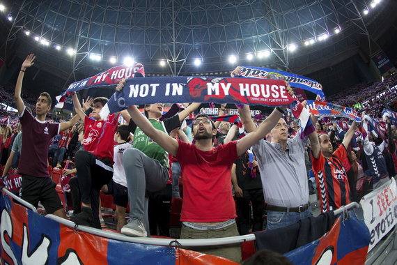 "Getty Images/Euroleague.net nuotr./Vitorijos ""Baskonia"" fanai"
