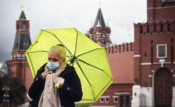 """AFP/""""Scanpix"""" nuotr./COVID-19 Maskvoje"""