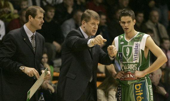 """""""Scanpix"""" nuotr./Gintaras Krapikas, Antanas Sireika ir Mantas Kalnietis 2006 m."""