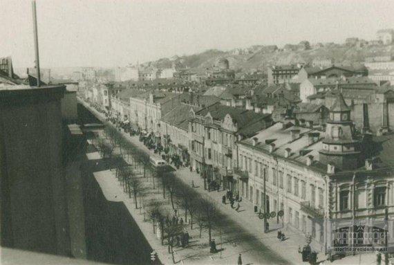 """Istorinės Prezidentūros archyvo nuotr./""""Metropolis"""" ir Laisvės alėjos nuotrauka, kuria rėmė A.Kupčinskas"""
