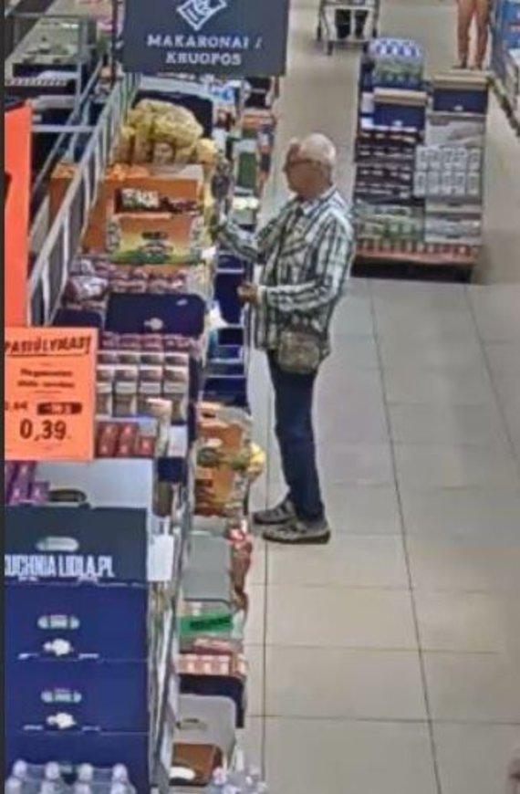Kauno apskrities policijos nuotr./Kauno policijos ieškomas žmogus piniginės vagystės tyrime