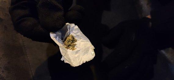 Karolinos Stažytės nuotr./Rastos galimai narkotinės medžiagos
