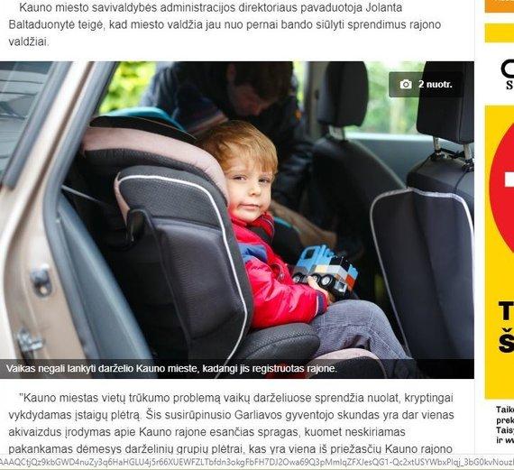 Kauno rajono savivaldybės nuotr./Kauno rajono savivaldybės sukritikuota citata ir nuotrauka straipsnyje