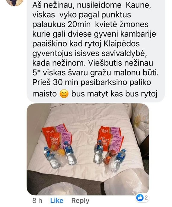 Reader's Photo / Feedback from a Forcibly Isolated Person in Kaunas