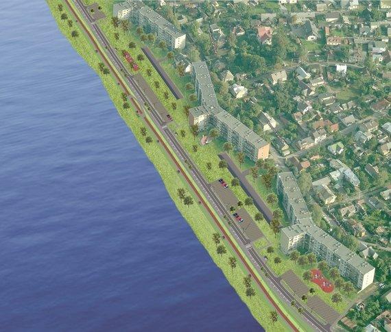 Kauno miesto savivaldybės nuotr./Nemuno pakrantės Šančiuose sutvarkymo projekto vizualizacijos