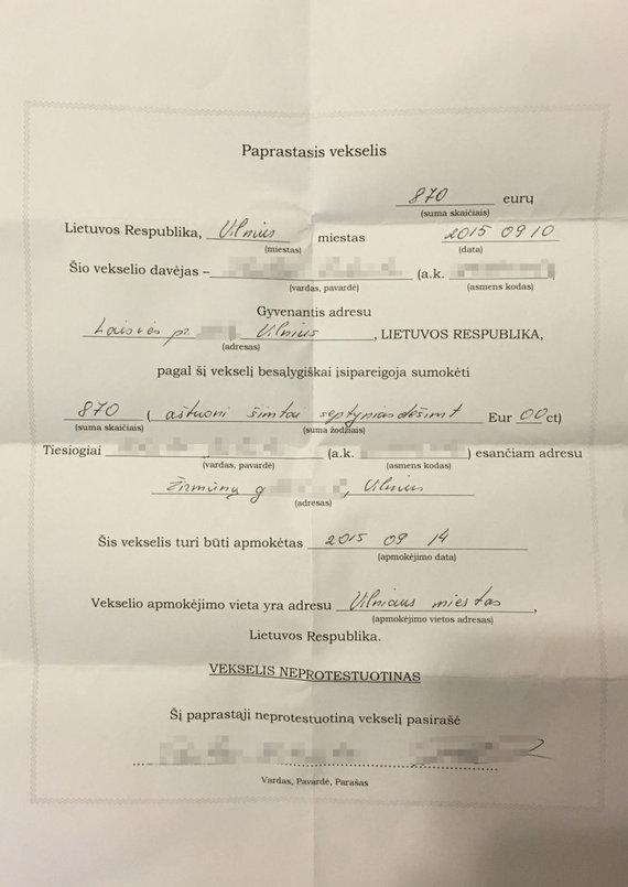 """Skaitytojų nuotr./Buvusio """"Radiocentro"""" laidų vedėjo Pauliaus Bukausko pirkimo sandorių įrodymai"""