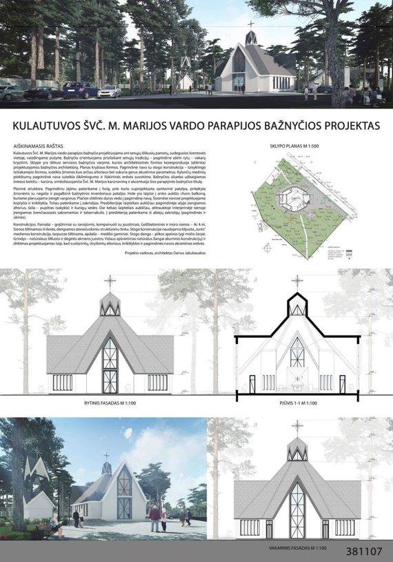 Kauno rajono savivaldybės nuotr./Kulautuvos bažnyčios projektas