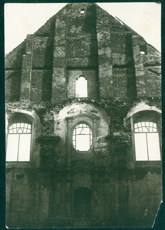Žemaičių vyskupystės muziejaus nuotr./Sena sinagoga Vilijampolėje XX a. 4 dešimt., autorius Zigmas Naujalis