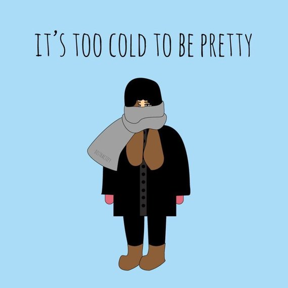 Facebook iliustracija/Per šalta, kad būtum graži