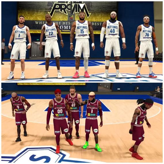 """GRIND Esports nuotr./Draugiškos """"Lietkabelio"""" ir """"Neptūno"""" """"NBA 2K20"""" rungtynės"""