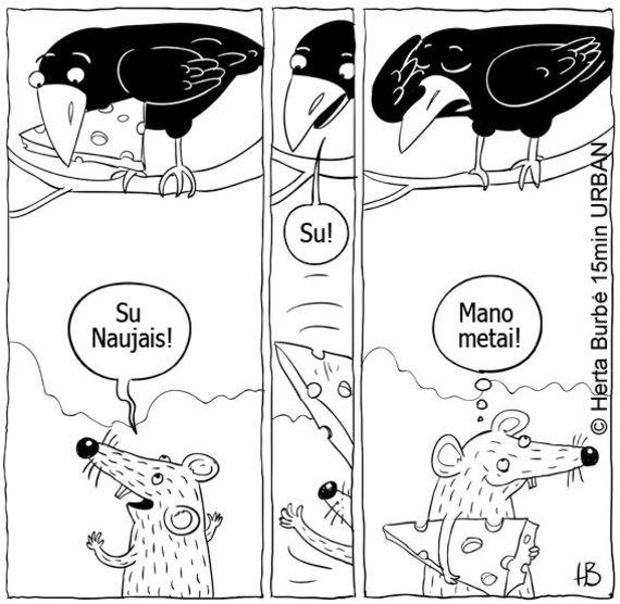 Herta Burbė / 15min URBAN/Karikatūra