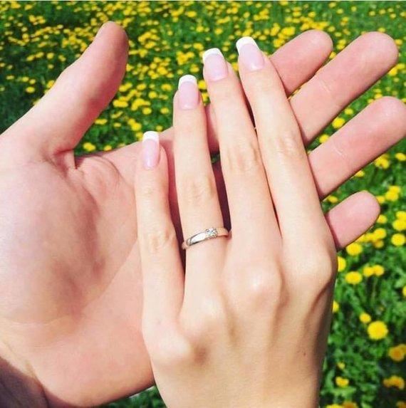 Asmeninė nuotr./Giedrės Girnytės sužadėtuvių žiedas