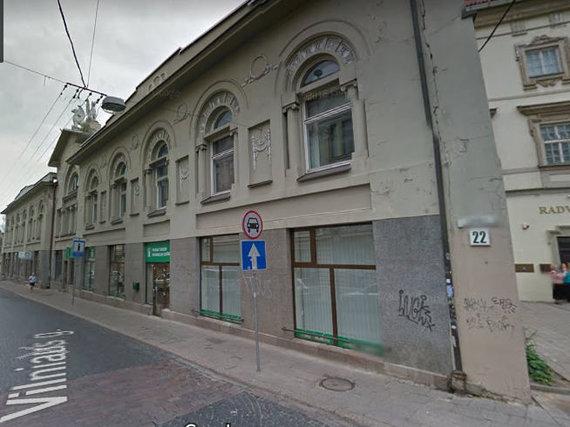 Google maps nuotr. /Pastatas Vilniaus gatvėje, kuriame veikė jaunimo kavinė
