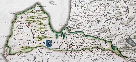 Wikipedia Commons nuotr./Kuržemės žemėlapis