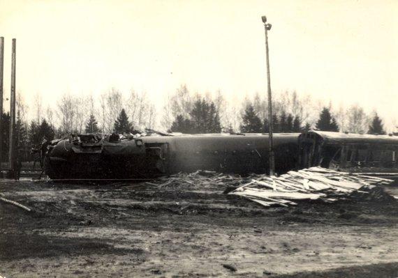 Kaišiadorių muziejaus nuotr., saugoma Kaišiadorių muziejuje/Sudegę traukinio vadovai