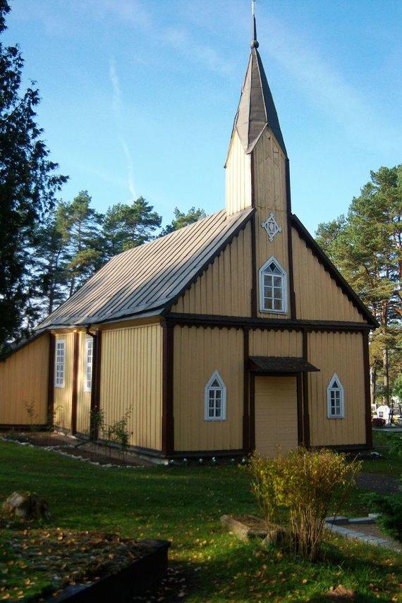 Wikipedia Commons nuotr./Taip atrodė Paštuvos bažnyčia