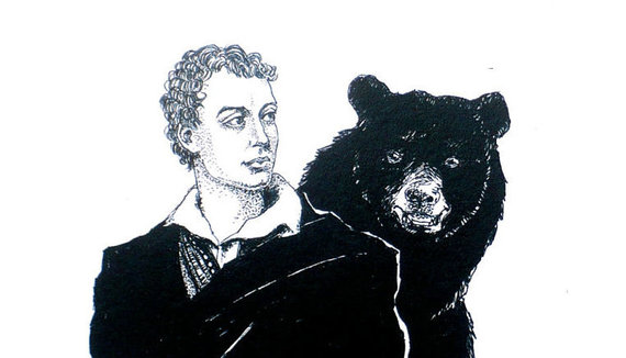 leygallery.com nuotr./Lordas Byronas studentų bendrabutyje gyveno su lokiu
