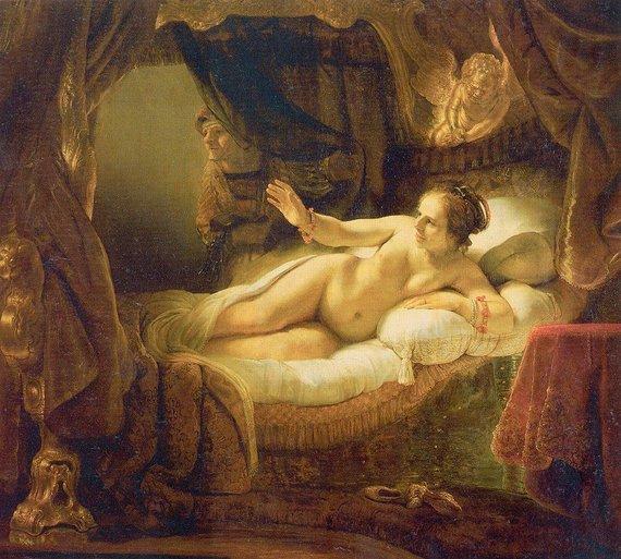 "Wikimedia Commons nuotr./Rembrandto ""Danaja"""