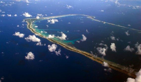 Wikimedia Commons nuotr./Madžūro atolas, kuriame įsikūrusi Maršalo salų sostinė Madžūra