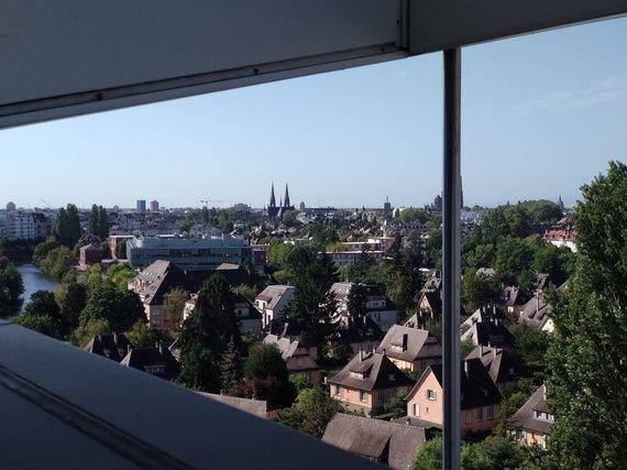 Ugniaus Antanavičiaus nuotr./Strasbūro vaizdas nuo vieno iš EP pastatų stogo