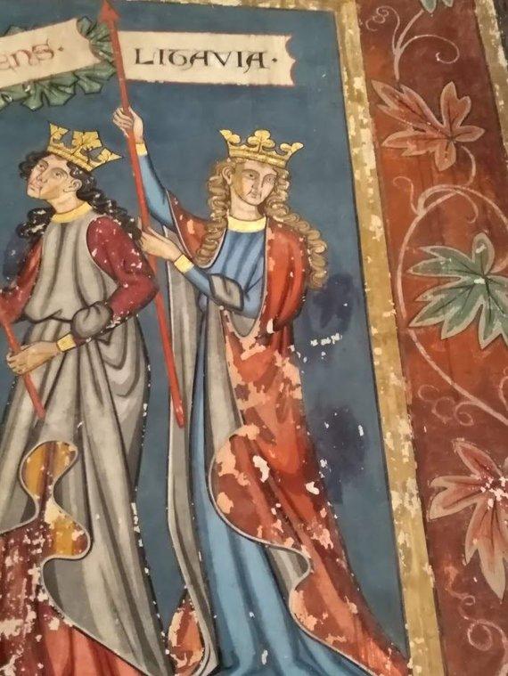 Ugniaus Antanavičiaus nuotr./Lietuva freskoje Strasbūro bažnyčioje