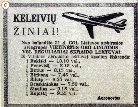 """Nuotr. iš Dariaus Pocevičiaus knygos """"Istoriniai Vilniaus reliktai 1944-1990""""/Skelbimas sovietinėje spaudoje 1964 m."""
