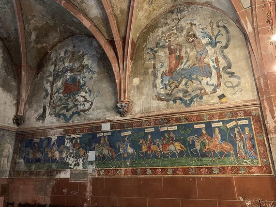 Wikimedia Commons // CC BY-SA 4.0 nuotr./Freska Strasbūro bažnyčioje, kurioje vaizduojama Lietuva
