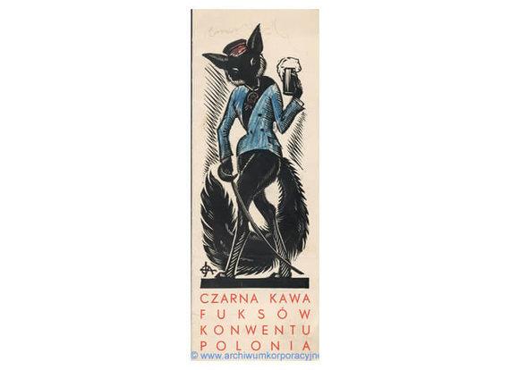 """""""Archiwum Korporacyjne"""", Polona.pl archyvas./Kvietimas į """"Juodąją kavą"""" 1934 m."""
