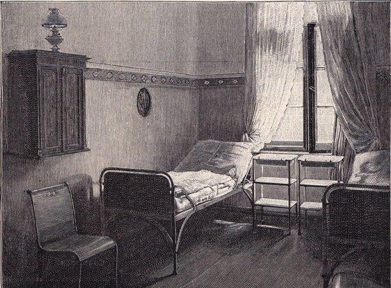Wikimedia Commons / Public Domain nuotr./Dvivietė palata