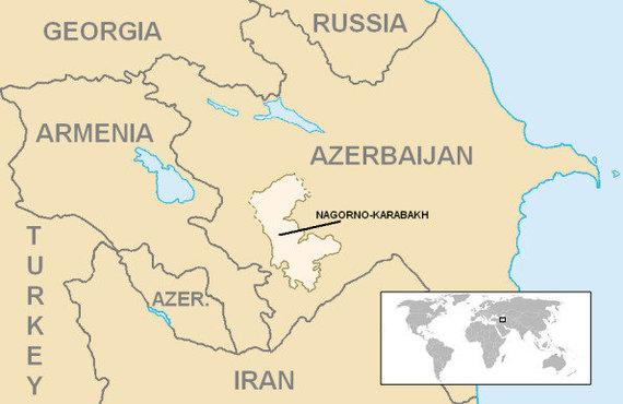 Wikimedia Commons pav./Kalnų Karabacho teritorija