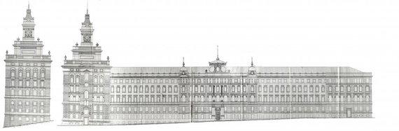 LVIA, F. 983, Ap. 4, B. 3646./Polesės geležinkelio valdybos rūmų projektas