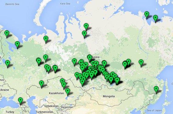 www,tremtis.lt žemėlapis. /Lietuvių tremties vietos