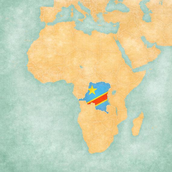 123rf nuotr./Kongas Afrikos žemėlapyje
