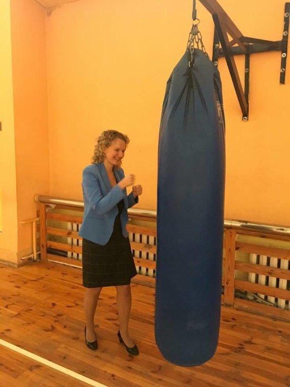 Asmeninio archyvo nuotr./Aušrinė Armonaitė sporto salėje