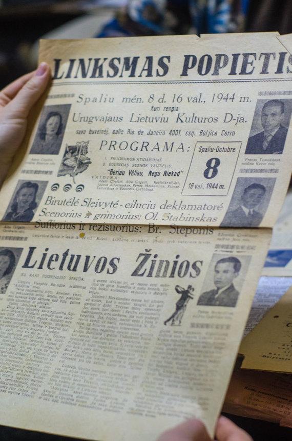 Diego Raciunas nuotr. /Seni Urugvajaus lietuvių laikraščiai